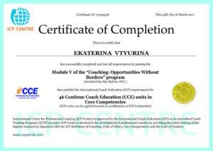 Сертификат ICP-centre