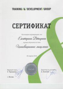 Сертификат Инновационное мышление